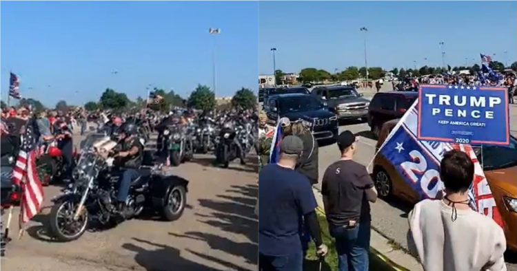 Watch: Over 10,000 Trump Supporters Honor First Responders, 1500+ Bikers For Trump