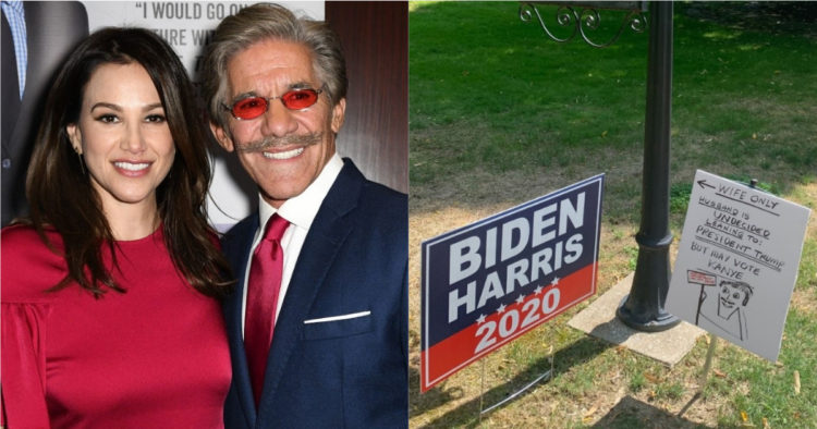 Geraldo Rivera, Wife Have Dueling Political Signs On Front Lawn